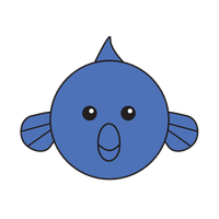 Link to animaru Blue Dolphin Fish